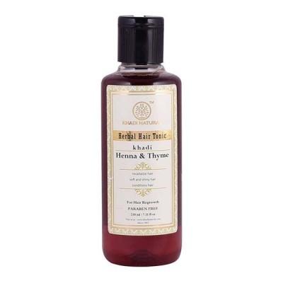 Khadi Natural Henna Thyme Hair Tonic 210 ml Ayurvedic Long Strong Growth Care