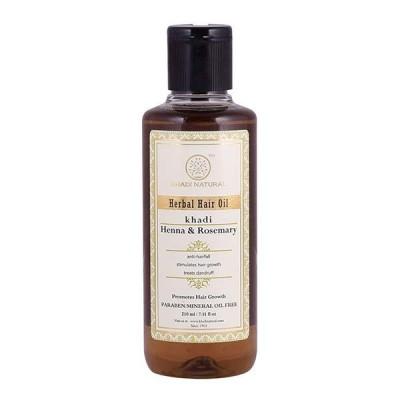 Khadi Natural Rosemary & Henna Hair Oil 210 ml Ayurvedic Long Strong Growth Care