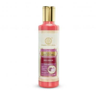 Khadi Natural Red Onion Hair Cleanser Sulphate & Paraben Free 210 ml Ayurvedic