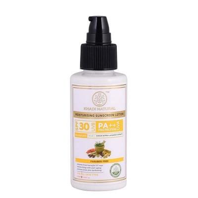 Khadi Natural Sunscreen Moisturizing Lotion 100 ml SPF 30 Ayurvedic Face Care