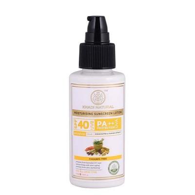 Khadi Natural Sunscreen Moisturizing Lotion 100 ml SPF 40 Ayurvedic Face Care
