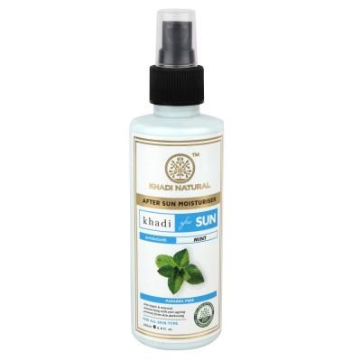 Khadi Natural After Sun With Mint 200 ml Ayurvedic Skin Anti Tan Face Body Care