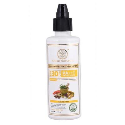 Khadi Natural Sunscreen Moisturizing Lotion 200 ml SPF 30 Ayurvedic Face Care