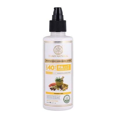 Khadi Natural Sunscreen Moisturizing Lotion 200 ml SPF 40 Ayurvedic Face Care