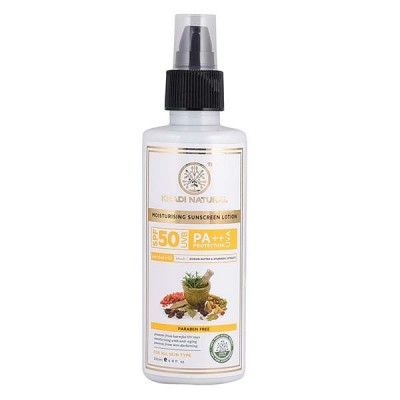 Khadi Natural Sunscreen Moisturizing Lotion 200ml SPF 50 Ayurvedic Face UVA Care