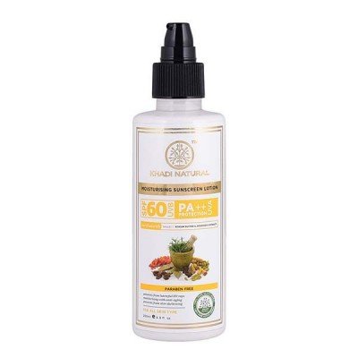 Khadi Natural Sunscreen Moisturizing Lotion 200 ml SPF 60 Ayurvedic Face Care