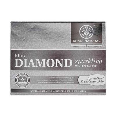 Khadi Natural Diamond Sparkling Mini Facial Kit 75 gm face skin cleanser care