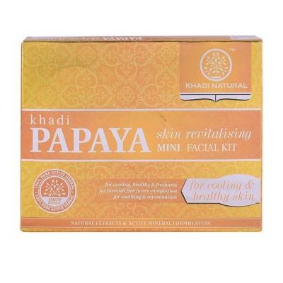 Khadi Natural Papaya Skin Revitalizing Mini Facial Kit 75 gm Ayurvedic Skin Care