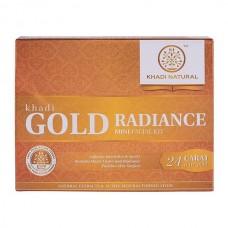 Khadi Natural Gold Radiance Mini Facial Kit 75gm scrub cream Ayurvedic Face Care