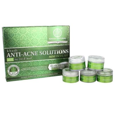 Khadi Natural Anti Acne Solutions Mini Facial Tea Tree & Basil 75 gm Ayurvedic