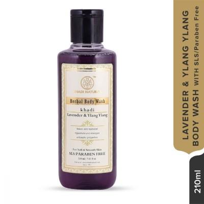 Khadi Natural Lavender & Ylang Ylang Body Wash SLS & Paraben Free 210 ML Care