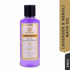 Khadi Natural Bath Oil 210ML Ayurvedic Lemon Bergamot Neroli Ayurvedic Face Care