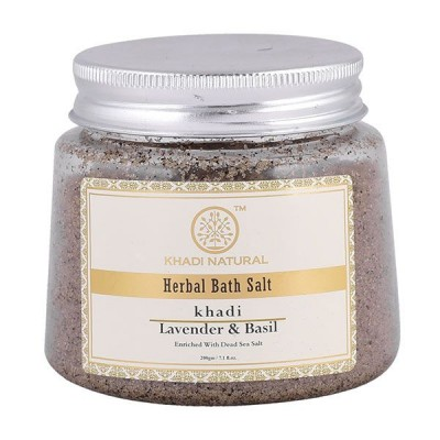Khadi Natural Lavender & Basil Bath Salt 200 gm Ayurvedic Skin Body Face Care