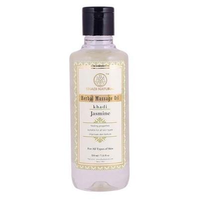 Khadi Natural Jasmine Massage Oil 210 ml tones body Ayurvedic Skin Face Care