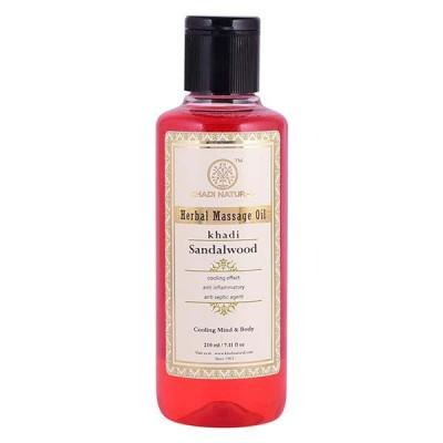 Khadi Natural Sandalwood Massage Oil 210 ml Ayurvedic Face Skin Body Tone Care