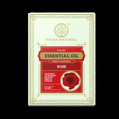 Khadi Natural Rose Pure Essential Oil 15ml Ayurvedic Skin Face Body Massage Care
