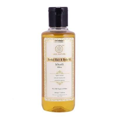 Khadi Natural Olive Oil 210 ml Ayurvedic Body Skin Face Aroma proteins Care
