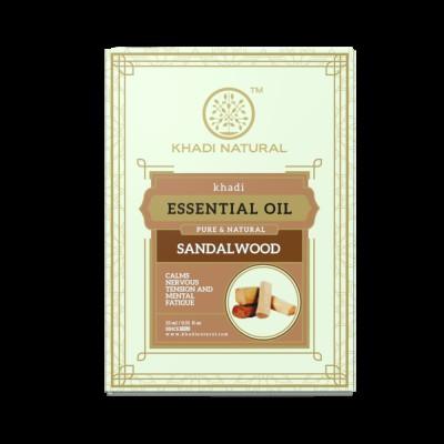 Khadi Natural Sandalwood Pure Essential Oil 15 ml Ayurvedic Skin Face Body Care