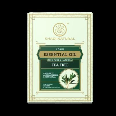 Khadi Natural Tea Tree Essential Oil 15 ml Ayurvedic Body Face Skin Acne Care