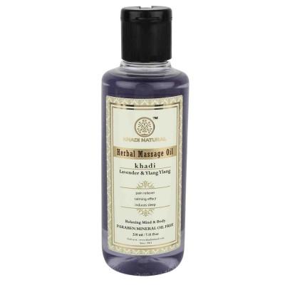 Khadi Natural Lavender & Ylang Ylang massage Oil 210 ml Ayurvedic Body Skin Care