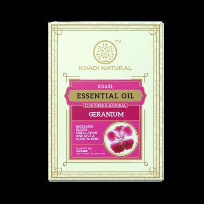 Khadi Natural Herbal Geranium Essential Oil 15 ml Ayurvedic Skin Face Body Care