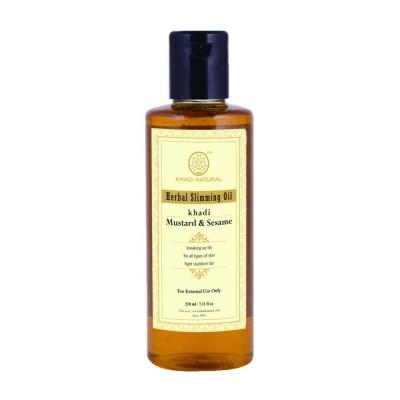 Khadi Natural Slimming Oil 210 ml burn fat cellulite Ayurvedic Body Skin Care