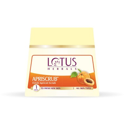 Lotus Herbals Apriscrub Fresh Apricot Scrub 300 gm Face Skin Body Neck Care