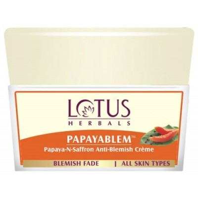 Lotus Herbals Papayablem Papaya & Saffron Anti Blemish Cream 50gm Face Skin Care