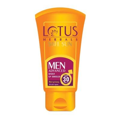 Lotus Herbals Safe Sun Men Advanced Daily UV Shield SPF 30 PA+++ Non Greasy 100g