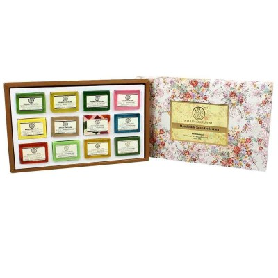 12 Soaps Gift Pack Khadi Natural Handmade Soaps Collection Ayurvedic Skin Care
