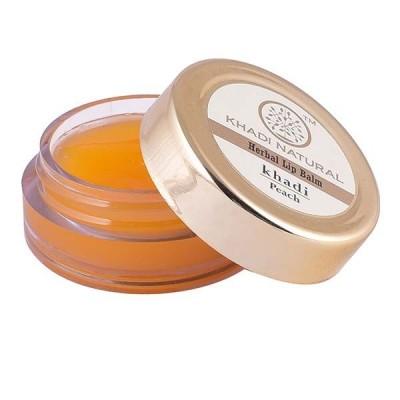 Khadi Natural Peach Lip Balm with Beeswax & Honey 5 gm Ayurvedic Lip Face Care