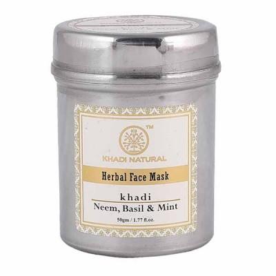 Khadi Natural Neem Basil Mint Face Pack Anti Acne Ayurvedic Skin Face Body Care