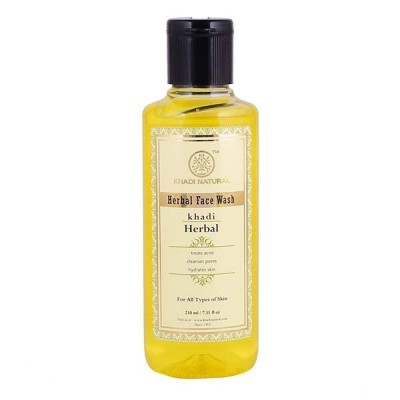Khadi Natural Herbal Face Wash 210 ml Ayurvedic Skin Dryness Face Body Care Gift