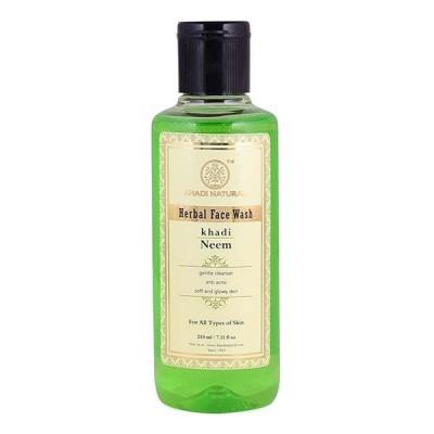Khadi Natural Neem Face Wash 210 ml Ayurvedic Herbal Skin Face Pimple Body Care