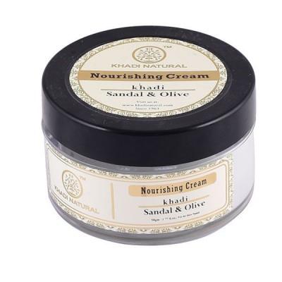 Khadi Natural Sandal & Olive Nourishing Cream 50gm Ayurvedic Skin Face Body Care