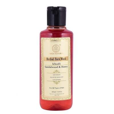 Khadi Natural Sandalwood & Honey Face Wash 210 ml Ayurvedic Skin Face Body Care