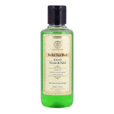Khadi Natural Neem Tulsi Face Wash 210 ml Ayurvedic Skin Face Pimples Body Care