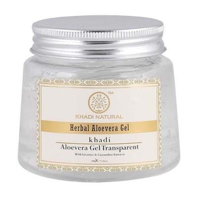 Khadi Natural Aloevera Gel Liqorice Cucumber Extracts 200 gm Skin Face Body Care