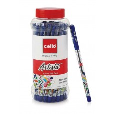 25 Pens Jar Blue Ink Cello Artista Ball Pens Ball pen office school student kit