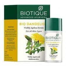 Biotique Bio Dandelion Ageless Lightening Serum 40 ml nutmeg oil less skin spots