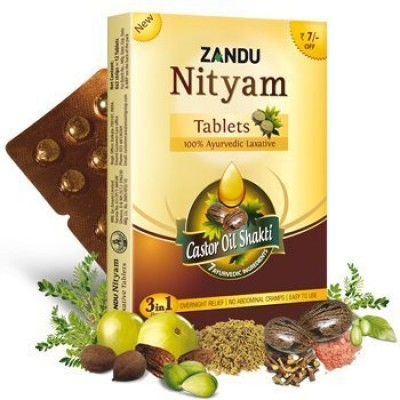 216 Zandu Nityam Ayurvedic Tablets digestion abdominal stomach cramp gas acidity