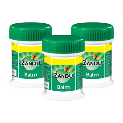 Lot of 3 Zandu Balm (25ml X 3) headache body cold sports gym pain Ayurvedic care