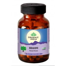 Lot of 2 Organic India Brahmi 120 Capsules memory wellbeing concentration energy