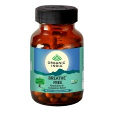 Lot of 2 Organic India Breathe Free Packs 120 Capsules Respiratory Congestion