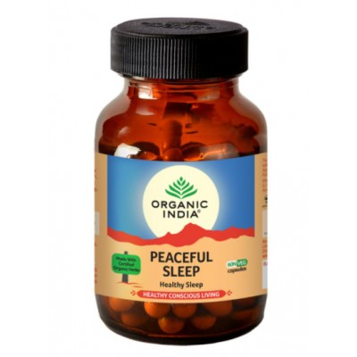 Lot of 2 Organic India Peaceful Sleep 120 Capsules USDA GMO Ayurvedic Natural