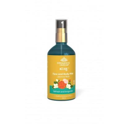 Organic India Face & Body Mist Jasmine Rose 100 ml Ayurvedic Natural USDA GMO