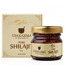 Upakarma Pure Ayurvedic Shilajit Shilajeet Resin 15 Gram 0.5 Oz Natural Organic