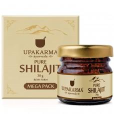 UPAKARMA Natural & Pure Ayurvedic Shilajit / Shilajeet Resin 30 Grams Mega Pack