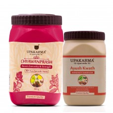 UPAKARMA Ayurveda Chyawanprash 500gm + Ayush Kwath 125gm Boost Immunity Strength