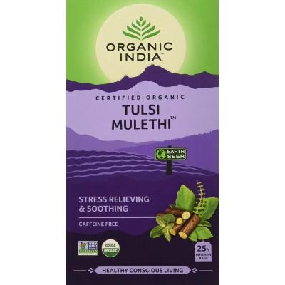 Lot of 4 Organic India Tulsi Mulethi 100 Tea Bags Ayurvedic Natural Health Care